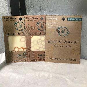 Kitchen - Beeswraps Beeswax Reusable Food Wraps set of 3 SM